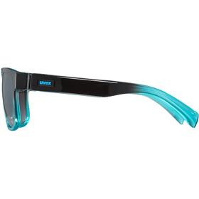 UVEX LGL 21 Cykelbriller, black turquoise/ltm.smoke